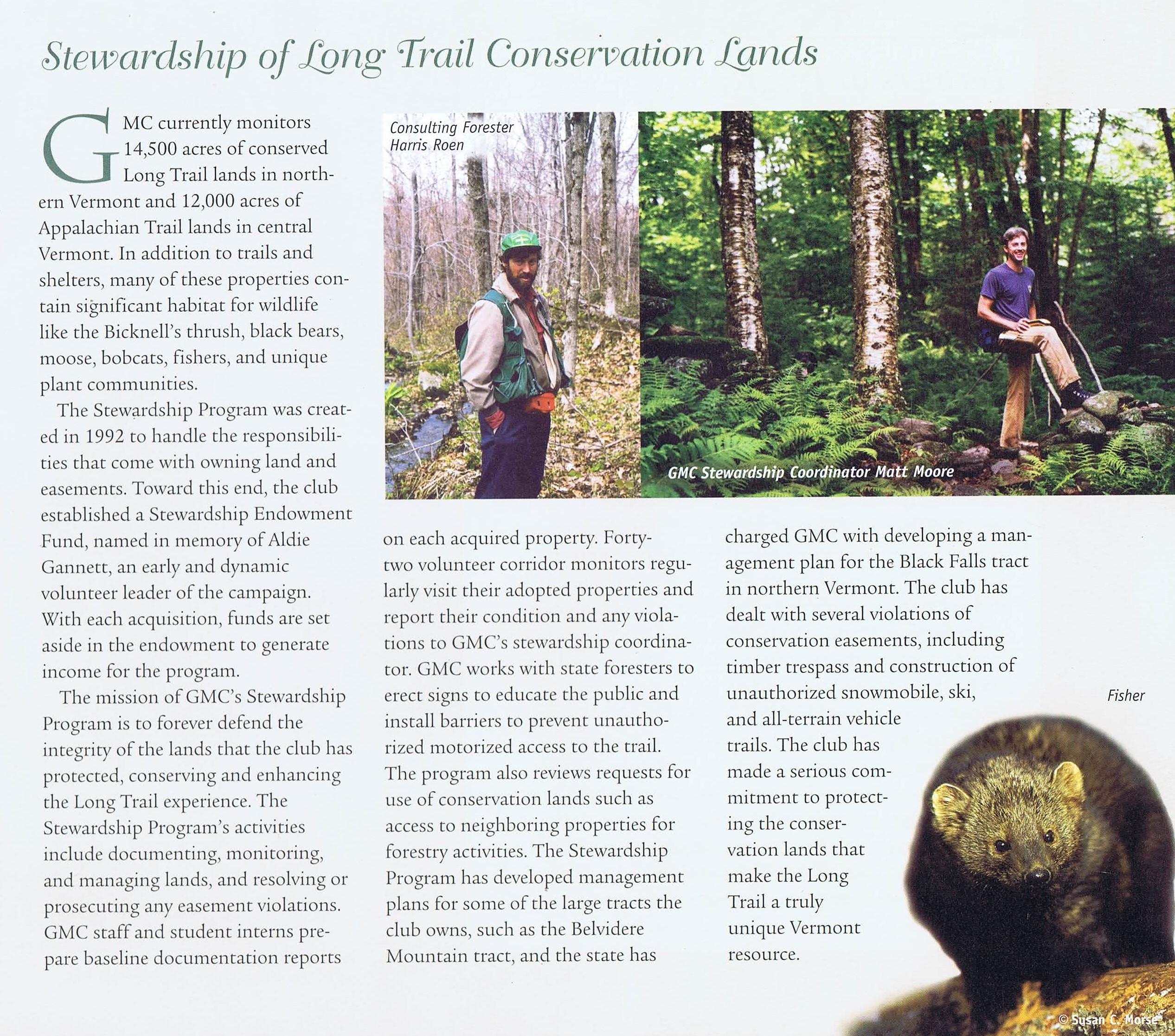Stewardship of Long Trail Conservation Lands